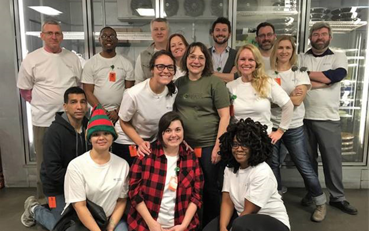 Columbia Team Members Pack Perishables for Harvest Hope Food Bank