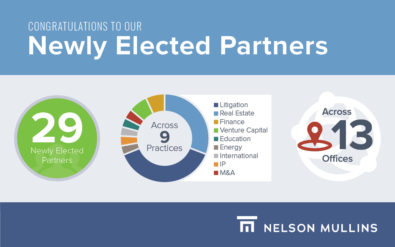 Nelson Mullins Elects 29 Attorneys to Partnership