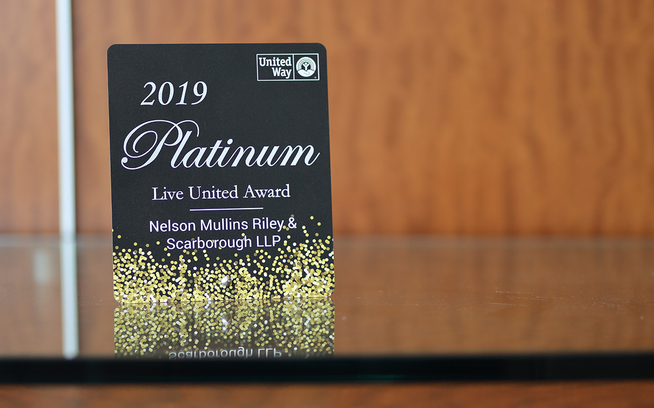 United Way of the Midlands Recognizes Firm for Contributions
