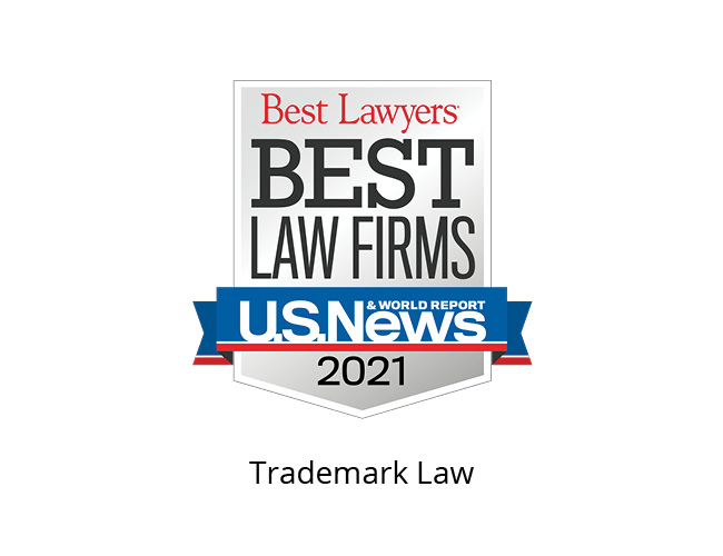 Best Lawyers Best Law Firms 2021 Badge, trademark law