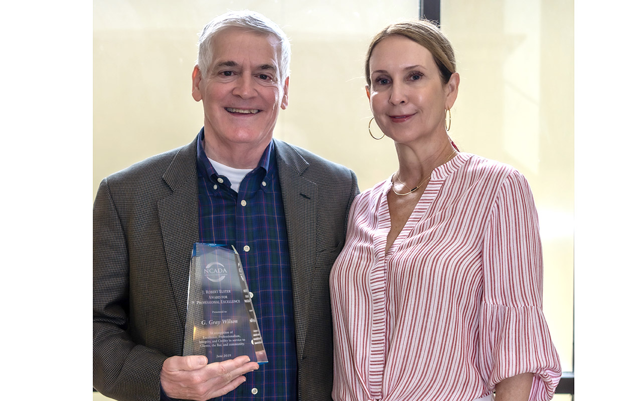 NCADA Honors Winston-Salem's Gray Wilson with Professional Excellence Award