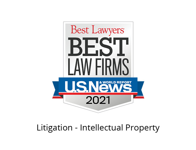Best Lawyers Best Law Firms 2021 Badge, litigation intellectual property