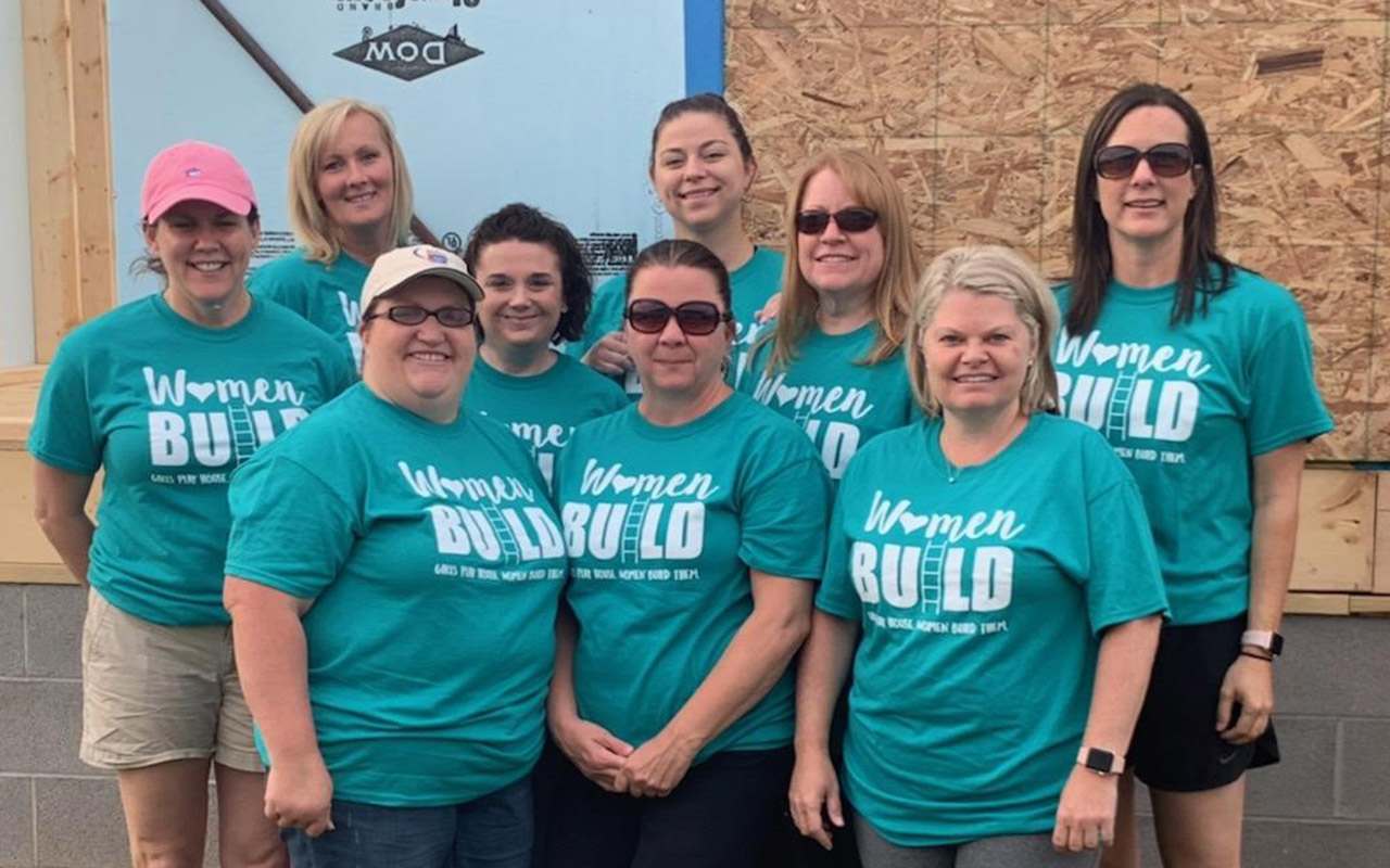 Women Attorneys and Staff in Huntington Build Habitat for Humanity House