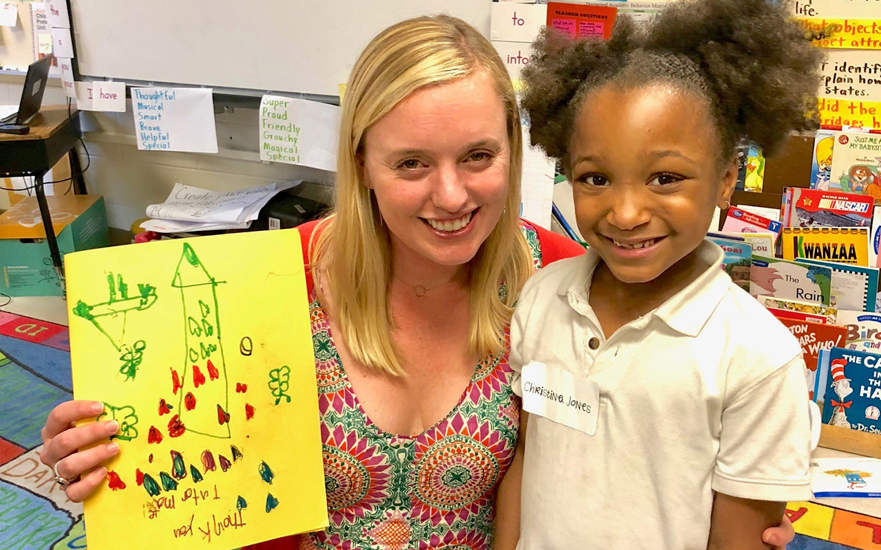 TutorMate volunteers help first graders improve reading level