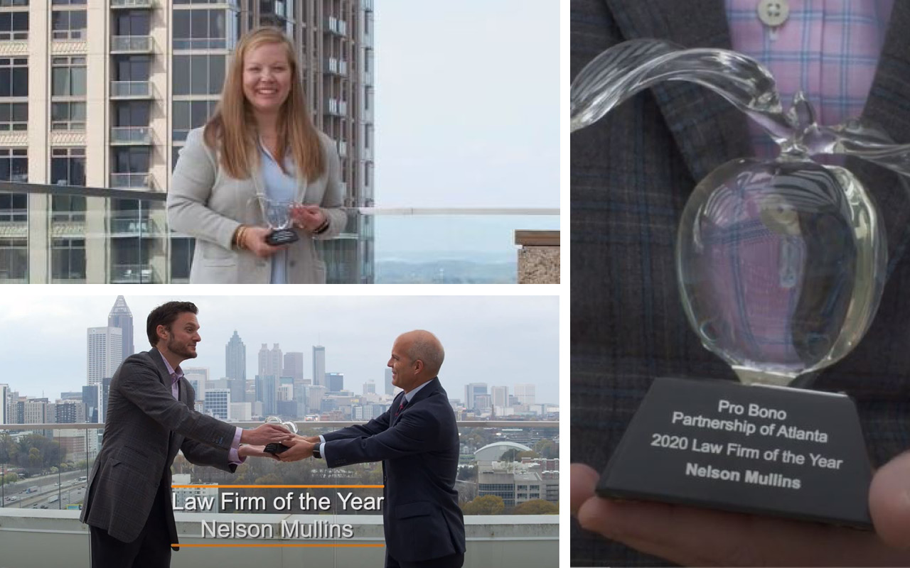 Pro Bono Partnership Names Nelson Mullins Law Firm of Year, Jessica Watson a Volunteer of the Year