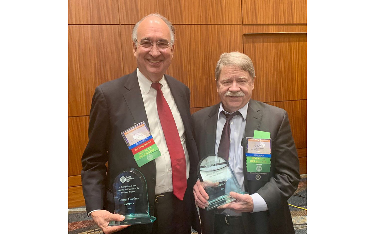 S.C. Bar Honors George Cauthen for Pro Bono Support