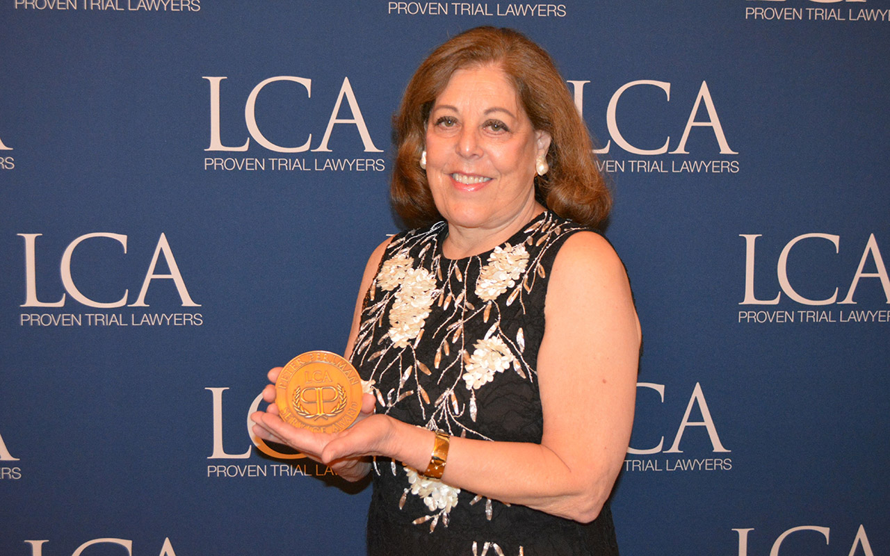 Litigation Counsel of America Honors Patricia Lebow for Community Service